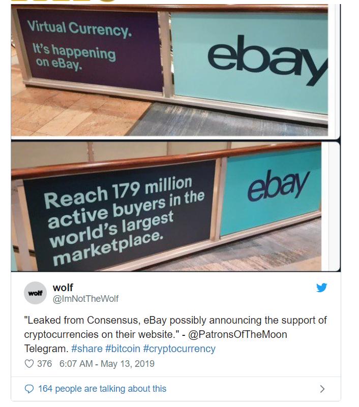 eBay马上要接受加密货币支付了?这则广告引发热议_aicoin_图1